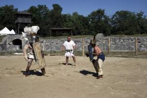 Gladiatoren in Carnuntum 2013, Amphitheater © APC, Foto: Heuber