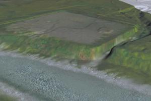 Geländemodell  des 1. Bezirkes zur Römerzeit © Michael Klein, Stadtarchäologie Wien