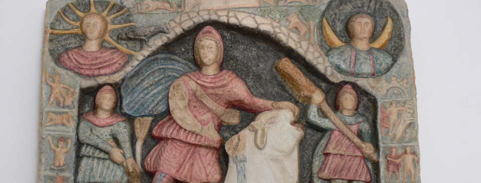 Mithrasrelief aus dem Museum LinzGenesis