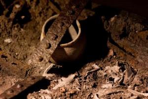 Urne im Kontext der Fundauffindung © Stadtmuseum St. Pölten