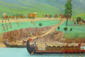 Diorama zum Thema Hafen und Straßenbau, Römermuseum Tulln © Eva Kuttner