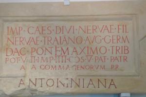 Bauinschrift mit der Nennung der Reitertruppe aus Commagene, Römermuseum Tulln © Eva Kuttner